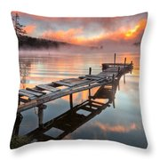 When The Fishermen Go Away Throw Pillow