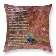 When The Night Is Endless  Throw Pillow
