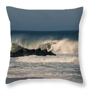 When The Ocean Speaks - Jersey Shore Throw Pillow
