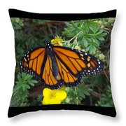 When The Rain Clears Monarch Butterfly Throw Pillow
