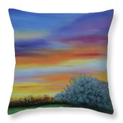 When The Sage Bush Blooms Throw Pillow