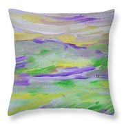 When The Sky Is Yellow The Purple Emerges Throw Pillow