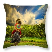 When The Sun Comes After Rain Throw Pillow
