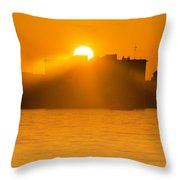 When The Sun Sets Throw Pillow