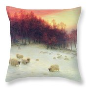 When The West With Evening Glows Throw Pillow by Joseph Farquharson