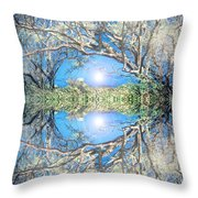 When Trees Embrace Throw Pillow