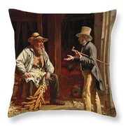 When We Were Boys Together Throw Pillow
