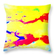 When We Were Swimming Together  Throw Pillow