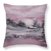 When Winter Comes Early Sold Throw Pillow by Cynthia Adams