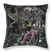 When Wizards Dream Throw Pillow