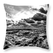 When You Need The Ocean, She Comes Rushing... Throw Pillow