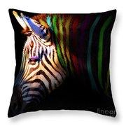 When Zebras Dream 7d8908 Square Throw Pillow
