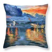 Where Are Last Night's Lights? Throw Pillow