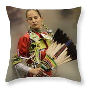 Pow Wow Where Are You Now Throw Pillow