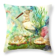 Where Babies Come From Throw Pillow