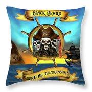 Where Be The Treasure? Throw Pillow
