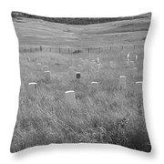 Where Custer Fell, Little Big Horn Throw Pillow