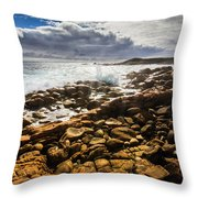 Where Distant Waves Break Throw Pillow