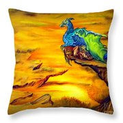 Dragons Valley Throw Pillow