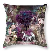 Where East Meets West Throw Pillow