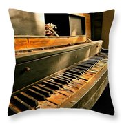 Where Fingers Once Danced Throw Pillow