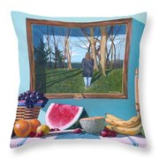 Where Fruit Of Life Lies Within Throw Pillow