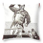Where Have You Gone Joe Dimaggio  Throw Pillow