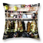 Where Heroes Hang Their Capes Throw Pillow