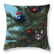 Where Is Santa Throw Pillow