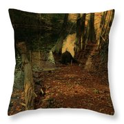 Where Leaves Touch The River Throw Pillow