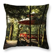 Where Life And Love And Shadows Meet Throw Pillow