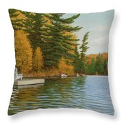 Where Life Is Easy Throw Pillow
