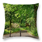 Where The Alley Starts. Throw Pillow