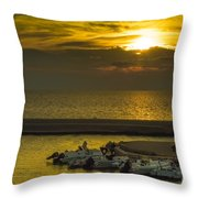Where The Boats Are Sleeping Throw Pillow
