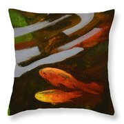 Where The Comets Play Throw Pillow