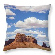Where The Earth Meets The Sky Throw Pillow