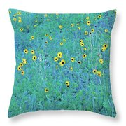 Where The Flowers Bloom Throw Pillow