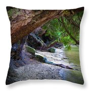 Where The Forest Meets The Sea Throw Pillow