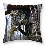 Where The Gnomes Live Throw Pillow