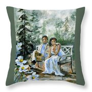 Where The Grass Is Green Throw Pillow