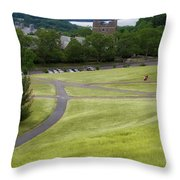 Where The Paths Cross Cornell University Ithaca New York Throw Pillow