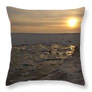 Where The Pier Meets The Sun Throw Pillow