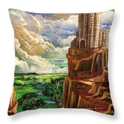 Where The Red Brick Road Leads Throw Pillow