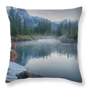 Where The River Bends Throw Pillow