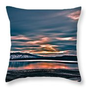 Where The River Ends Throw Pillow