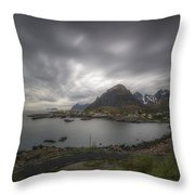 Where The Road Ends Throw Pillow