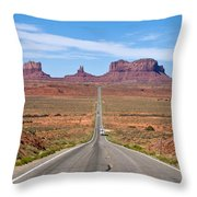 Where The Road Leads Throw Pillow