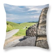 Where The Rubber Meets The Road Throw Pillow