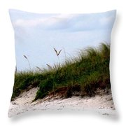 Where The Sea Wind Blows Throw Pillow