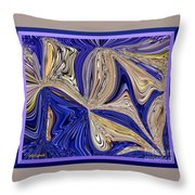 Where The Sky Meets The Sea Abstract Throw Pillow